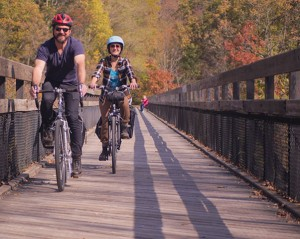 GAP and C&O bike trip shuttle service: rider, luggage, bicycle